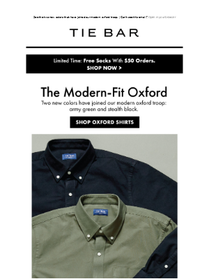 The Tie Bar - Our Modern Oxford Troop
