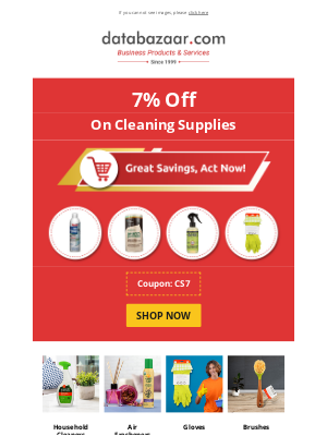 Databazaar - Great Savings On Cleaning Supplies - 7% Discount