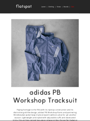 Flatspot - adidas PB Workshop Tracksuit - Shop Now