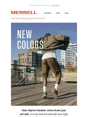 Merrell - JUST IN >> New Alpine Sneaker Colors