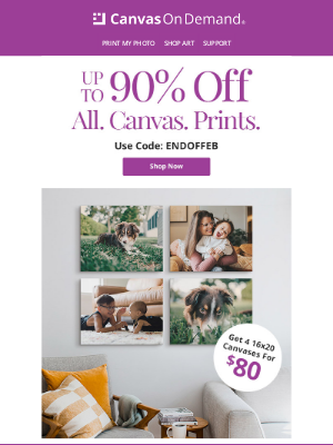 Canvas On Demand - Turn your favorite photos into keepsakes