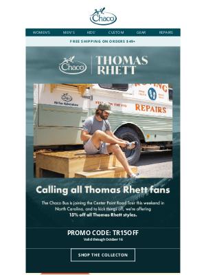 Chaco - Special 15% off for Thomas Rhett fans!