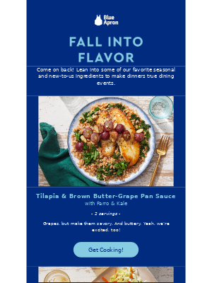 Win back email example from Blue Apron