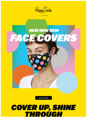 Happy Socks - New face covers are here