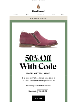 Hush Puppies - FLASH SALE: 50% off our best-selling women's boot.