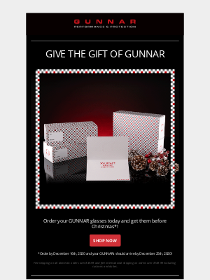 GUNNAR Optiks - brendan, there's still time to gift GUNNAR!