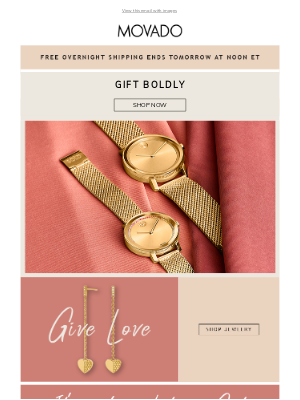 Movado - Give Joy! Free Overnight Shipping Ends Soon