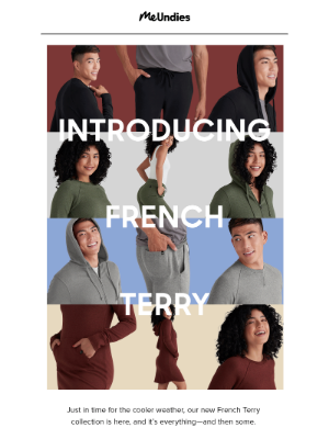 MeUndies - Meet Our New French Terry Fabric 🇫🇷