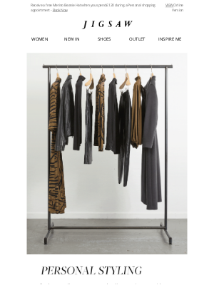 Jigsaw (UK) - Book a Personal Styling Appointment