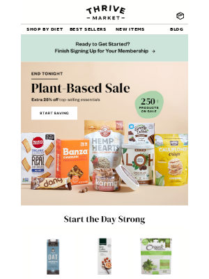 Final hours for our plant-based SALE! Extra 25% off