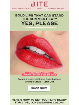 Bite Beauty - Make a splash with bold waterproof lip color 🌊