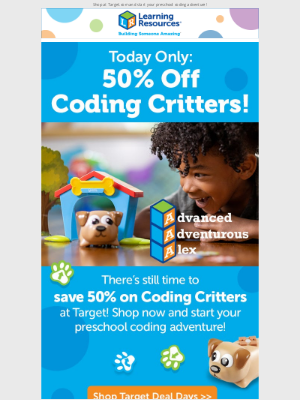 Learning Resources - Last Chance: 50% off Coding Critters at Target!
