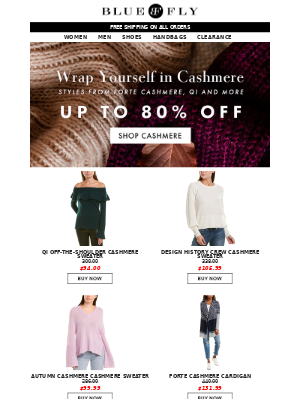 Bluefly - Cashmere up to 80% Off!