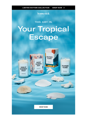 Homesick Candles - Limited Edition: Tropical Escapes