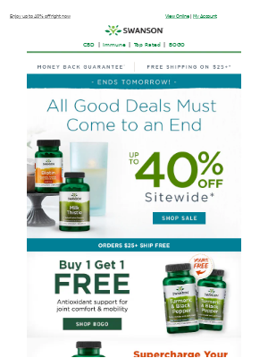 Swanson Health Products - Okay, now you're cutting it close...