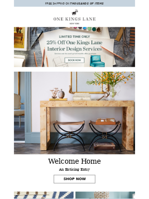 One Kings Lane - Create an inviting entry