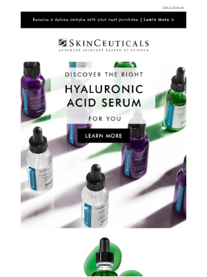 SkinCeuticals - Discover The Right Hyaluronic Acid Serum For Your Skin