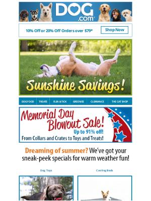 dog - Feels Like Summer, Save Like Summer... 20% Off Your Order