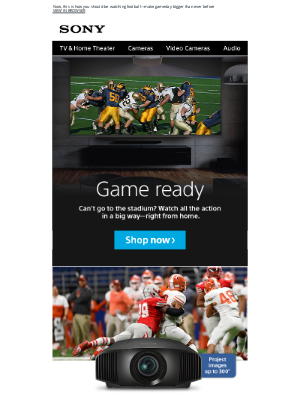 Sony - Turn Your Home Into Gameday Central With Big-Time Action