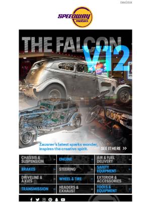 Speedway Motors - Zausner's Hand-built Falcon V12