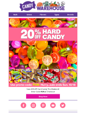 CandyWarehouse - Hundreds of Hard Candies On Sale - Hurry Ends Soon ❗