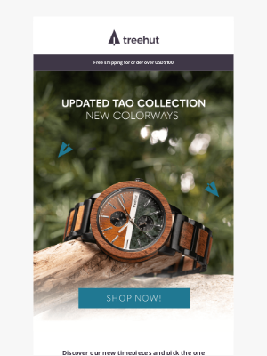 Tree Hut Design - New colors // Tao Chronograph Collection