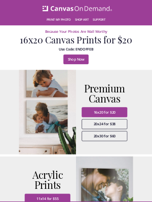 Canvas On Demand - Up to 90% Off Ends Soon