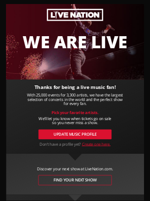 Live Nation - Welcome to Live Nation Concerts!