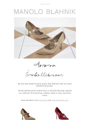 Manolo Blahnik - Event Ready Styles: Manolo's Autumn Embellishments Edit