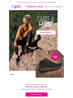 RYKA - Hit the trail! Hiking shoes made for more