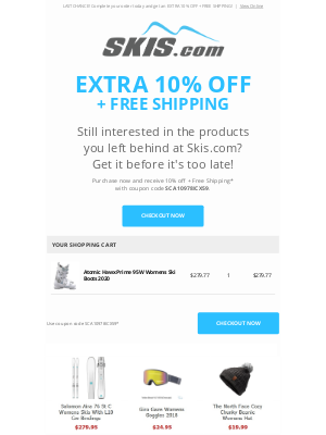 Skis - You Left Something Behind! Get 10% OFF + FREE SHIPPING before your cart expires!