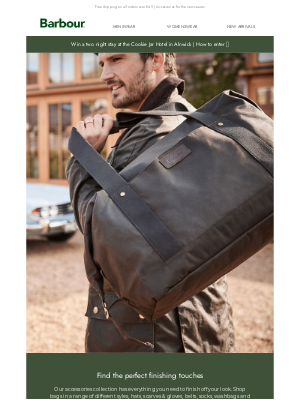 Barbour (UK) - For weekend picnics and working lunches