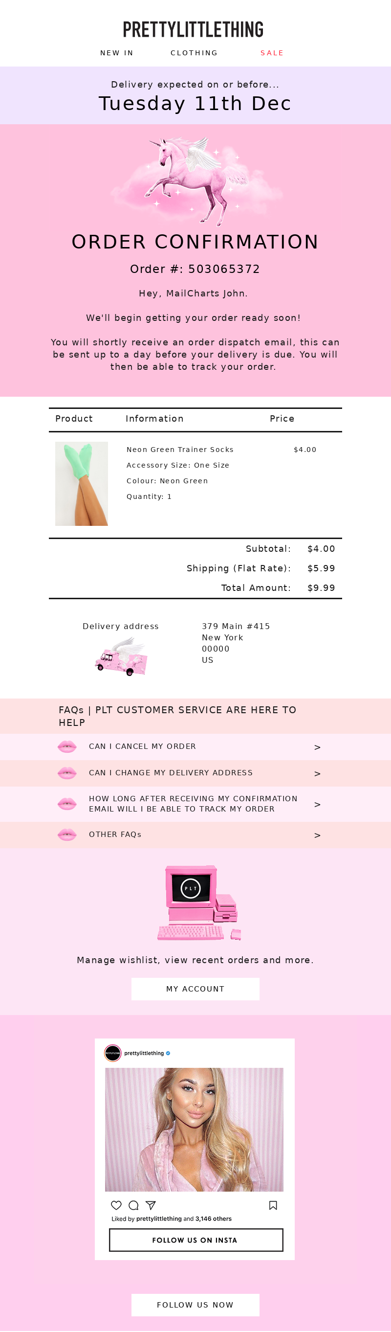 PrettyLittleThing USA - PrettyLittleThing: Order Confirmation # 503065372