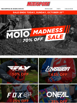 MotoSport - Moto Madness Deals End Today