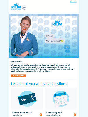 KLM (France) - We're here to answer your questions