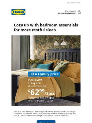 IKEA - Irene, upgrade your bedroom for comfier sleep