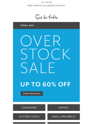 Sur La Table - Final hours—save up to 60% on top picks.