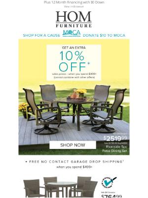 HOM Furniture - Hello Sunshine! Get an Extra 10% Off