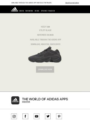 Adidas (UK) - YEEZY 500 UTILITY BLACK