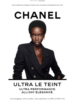 CHANEL - Ultra performance. All-day elegance.