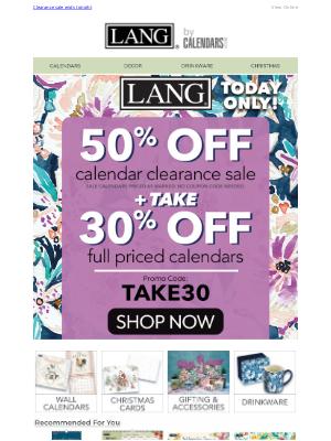 Calendars - Grab your 50% off calendar now