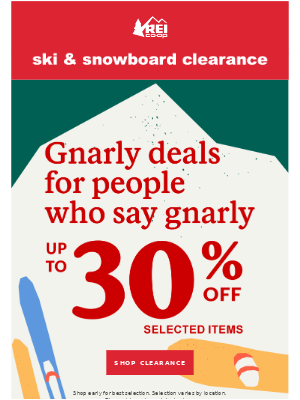 Only 4 Days to Save—Ski & Snowboard Clearance