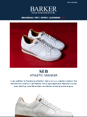 Barker Shoes - Seb Athletic Sneaker | Casual Collection | A/W20 Pre-orders | Free UK Shipping On Orders Over £150