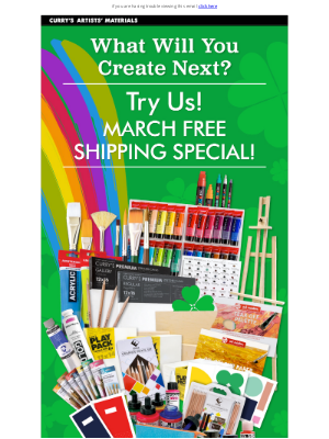 Curry's Art Store (CA) - Spend $28 for Free Shipping! Make More Art!