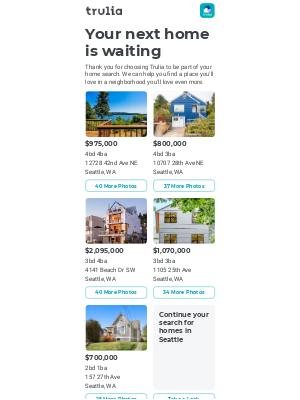 Trulia - Thanks for joining Trulia!