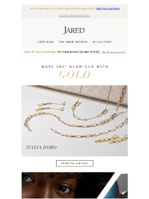 Jared - Men's gold chains & NEW luxurious looks for ladies