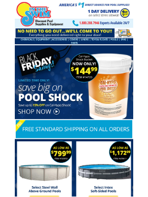 In The Swim - Savings on shock, equipment and more!