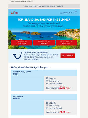 TUI (UK) - From Greece to the Canaries