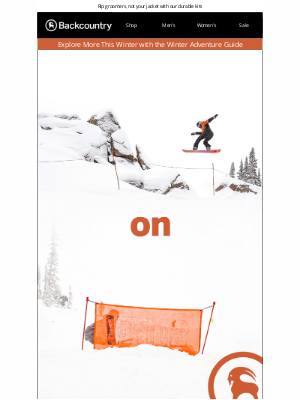 Save up to 30% on Ski Outerwear by Backcountry