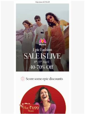 Myntra - 📣Epic Fashion Sale Is Live
